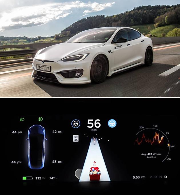 Tesla Santa Mode