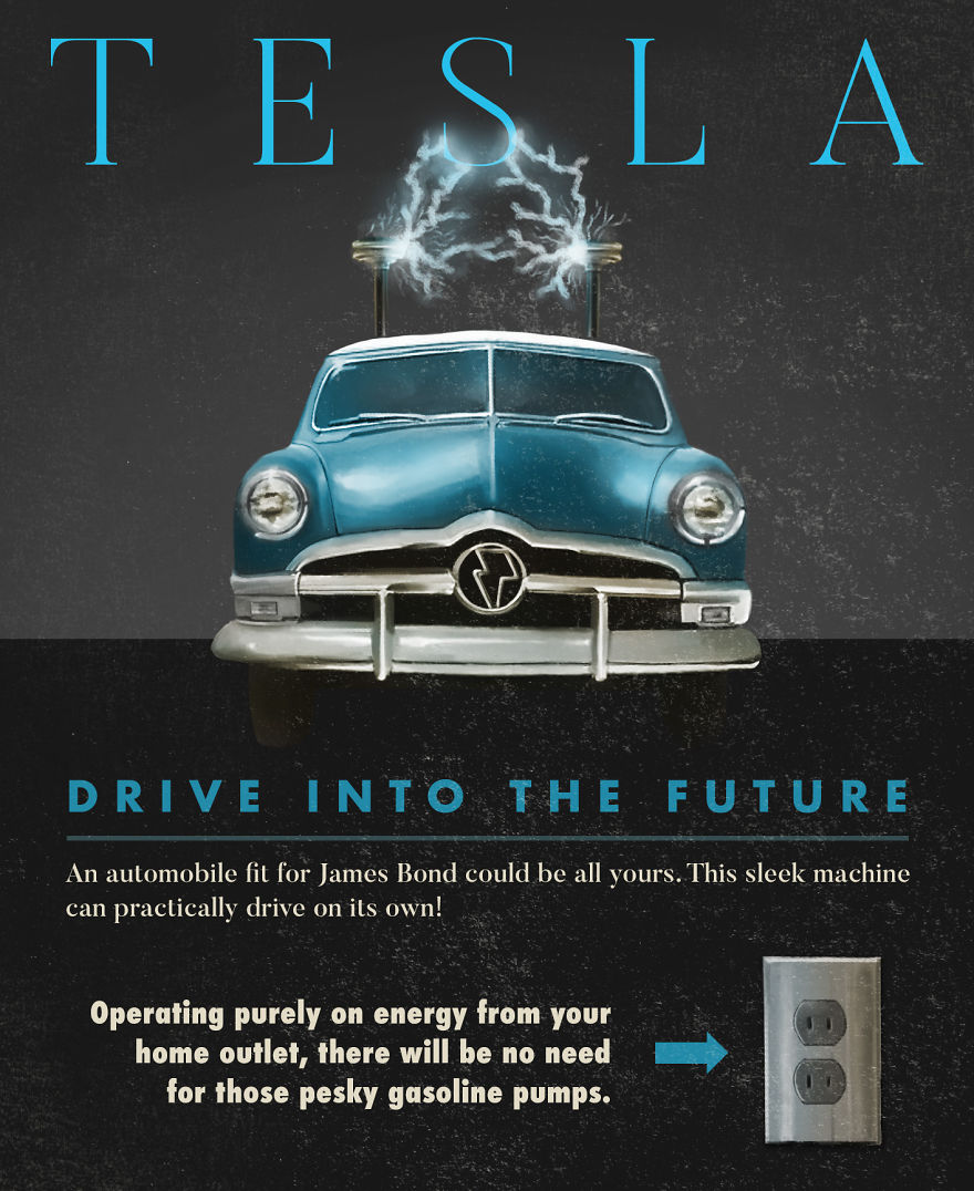 Tesla Vintage Ad