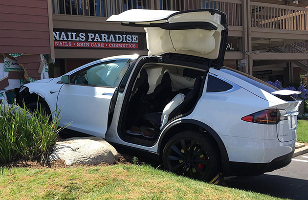 Tesla X Crashes