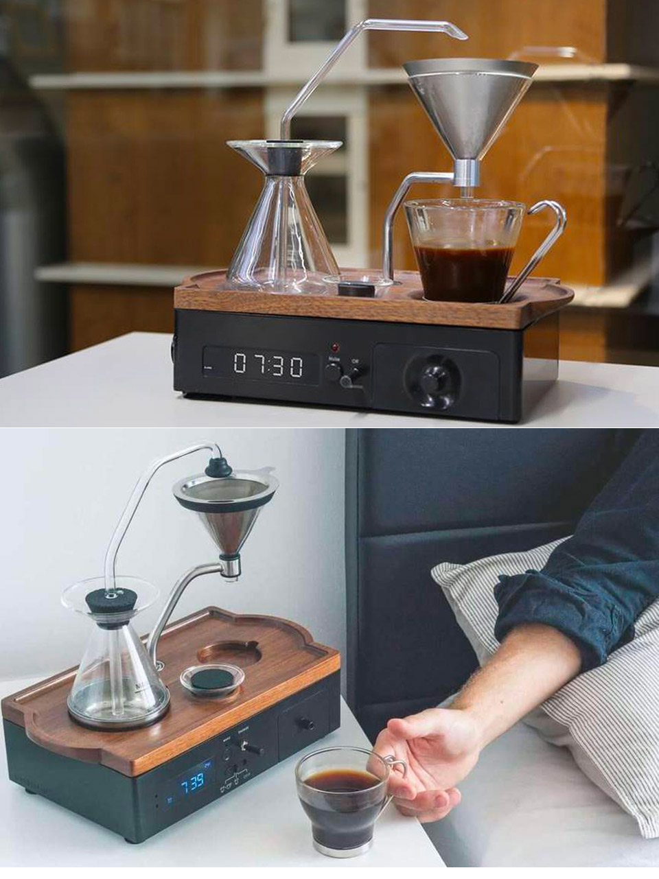 The Barisieur Coffee Alarm Clock Drink