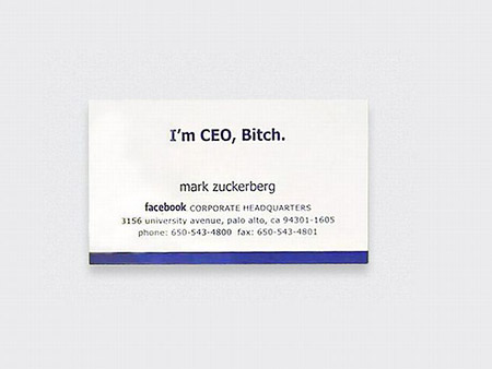 The business card techeblog ever wonder what the business cards of famous people like mark zuckerberg look like if so these scans should provide just what youve been looking for colourmoves