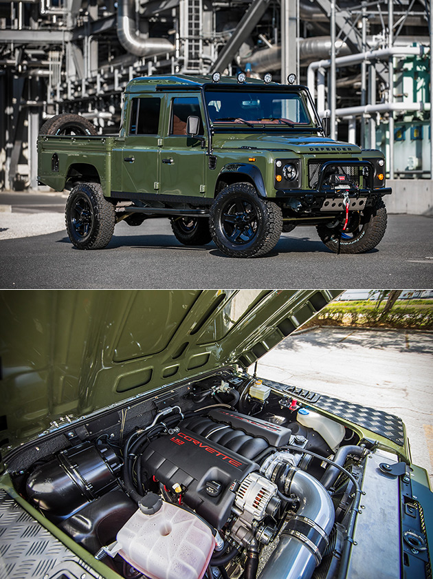 The Huntress Land Rover