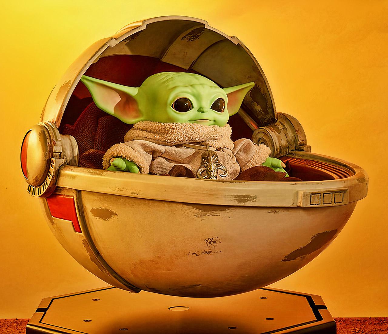 The Mandalorian Baby Yoda The Child Floating Hover Pram