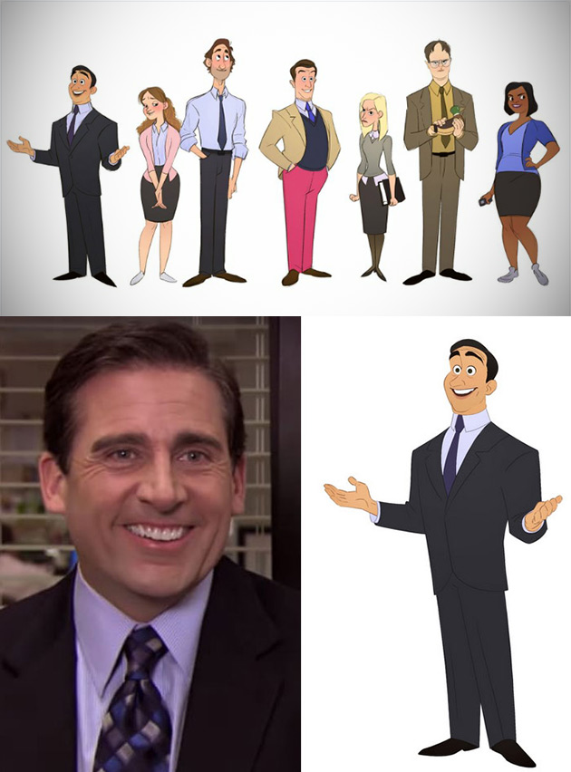 The Office Cartoon Animated