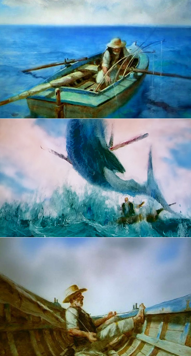 The Old Man And The Sea Animated Short Consists Of 29 000 Hand Painted Frames Techeblog