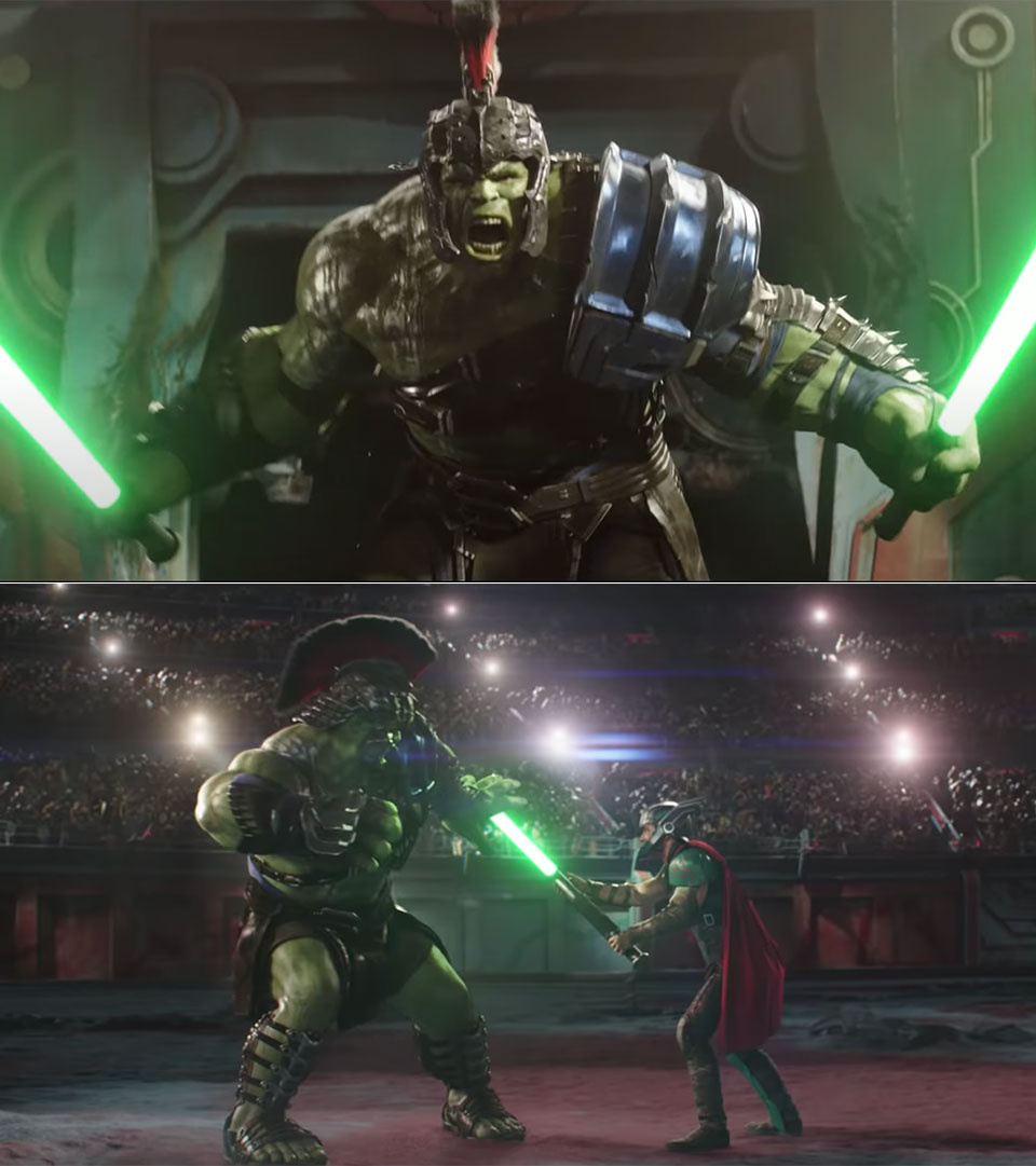 Thor Ragnarock Lightsabers