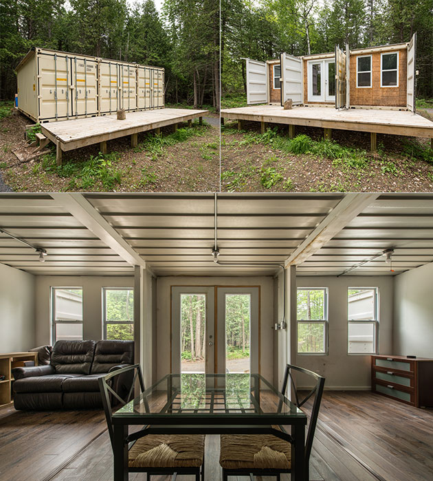 Three Shipping Container Home