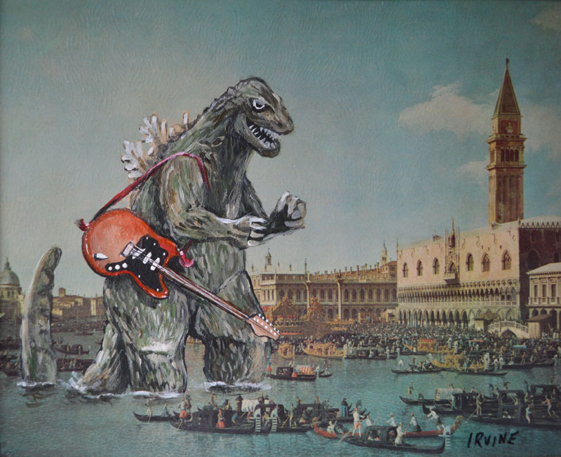 Thrift Store Paintings Pop Culture