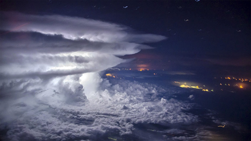 Thunderstorm from Plane
