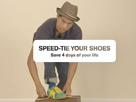 How to Tie Your Shoes Really Fast in One-Second