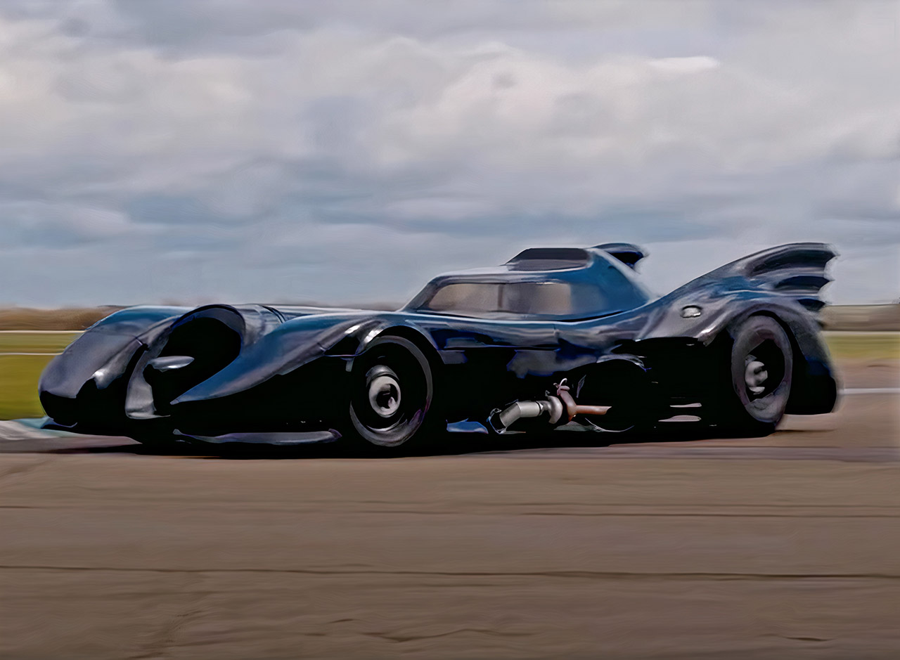 Tim Burton Batmobile Drive Test