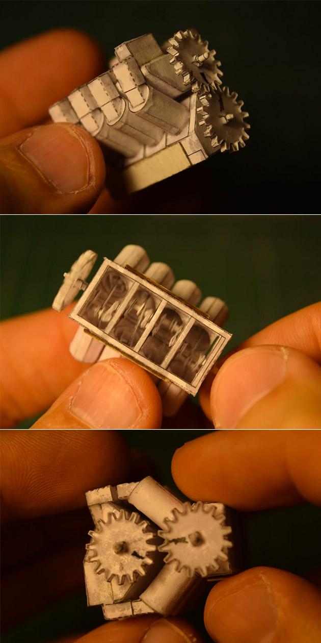 Tiny V8 Paper Engine