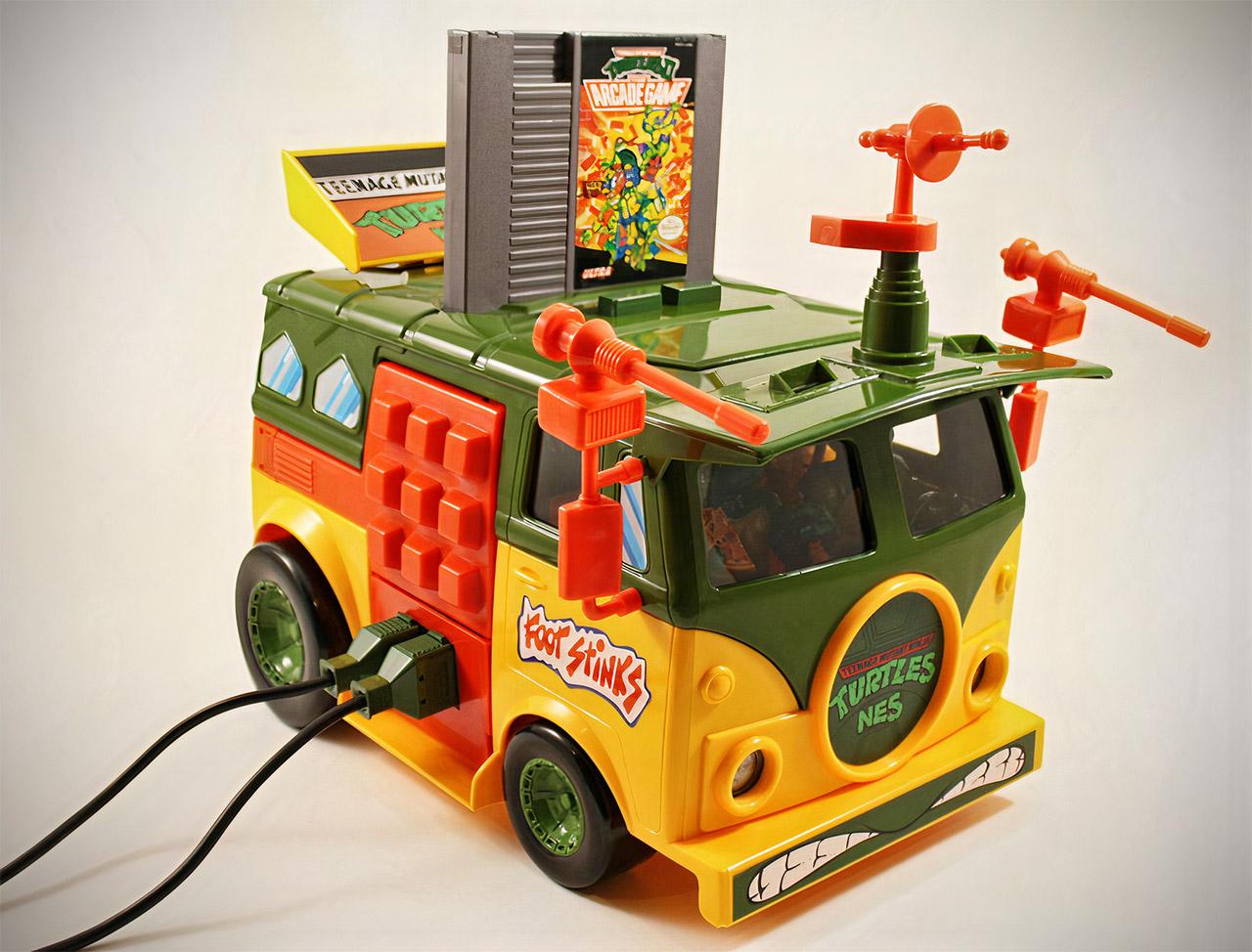 Teenage Mutant Ninja Turtles TMNT Party Wagon NES Console Mod