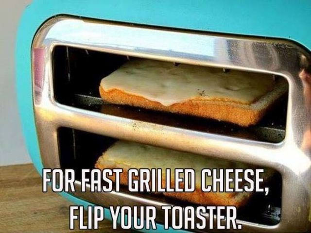 Grilled Cheese Toaster Hack