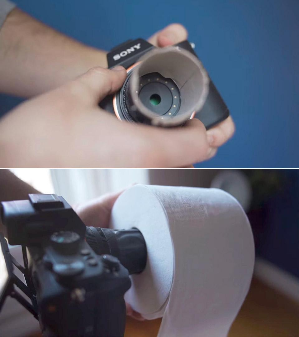 Toilet Paper Roll Camera Lens