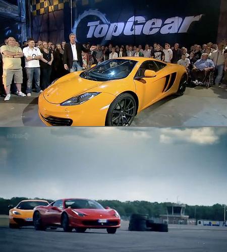top gear: mclaren mp4-12c vs. ferrari 458 italia - techeblog