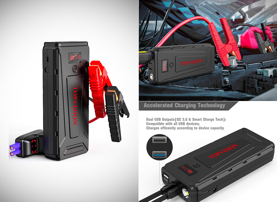 TOPVISION Portable Car Power Pack