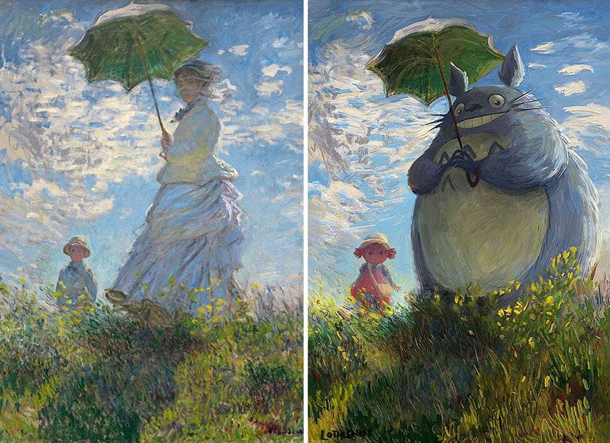 Тоторо с зонтиком и более 6 классических картин с вызывающим Перфекционизма