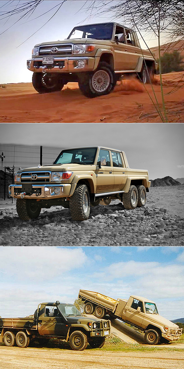Toyota Land Cruiser 6 6 Goes Anywhere Is Normal Truck Turned Off Road Beast Techeblog
