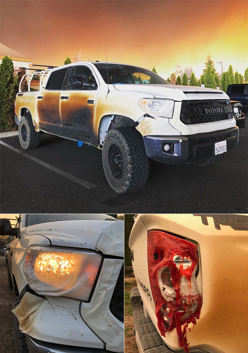 Toyota Truck California Wildfire
