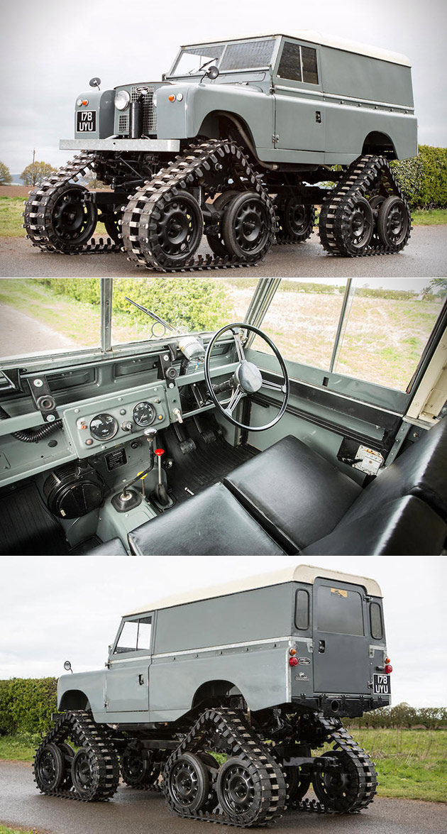 Tracked Land Rover