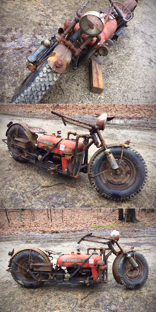 Tractor Bike Motorcycle Rat Bike