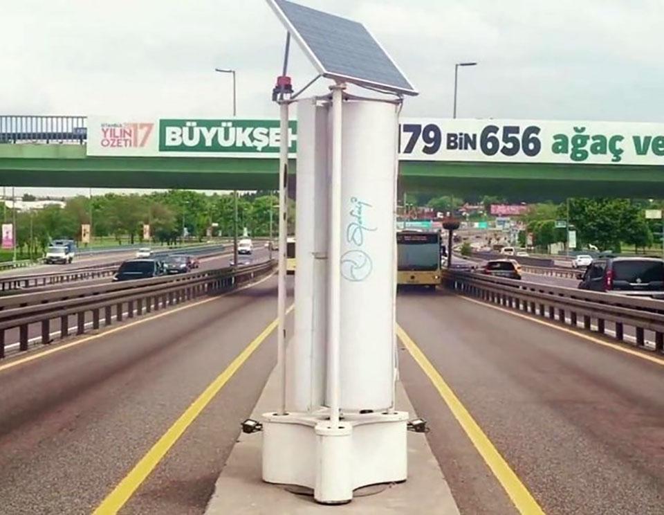 Traffic-Powered Turbine