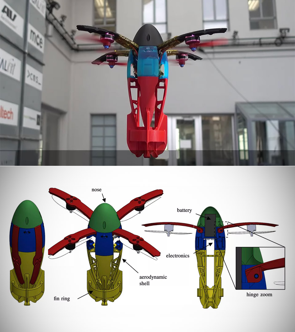 Transformable Squid Drone