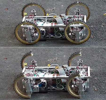 Real Life Transformers Robot Has Wheels That Turn Into