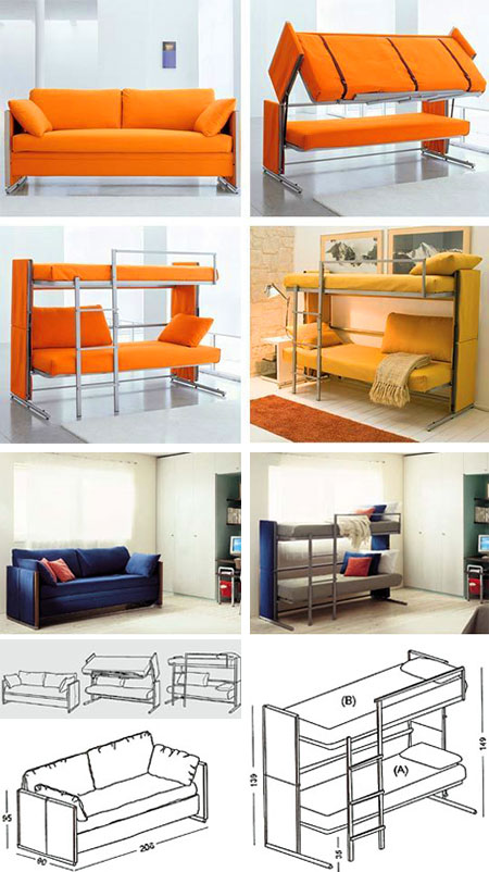 Cool Transforming Bunk Bed Couch Might Be The Coolest Ever Uwap Interior Chair Design Uwaporg