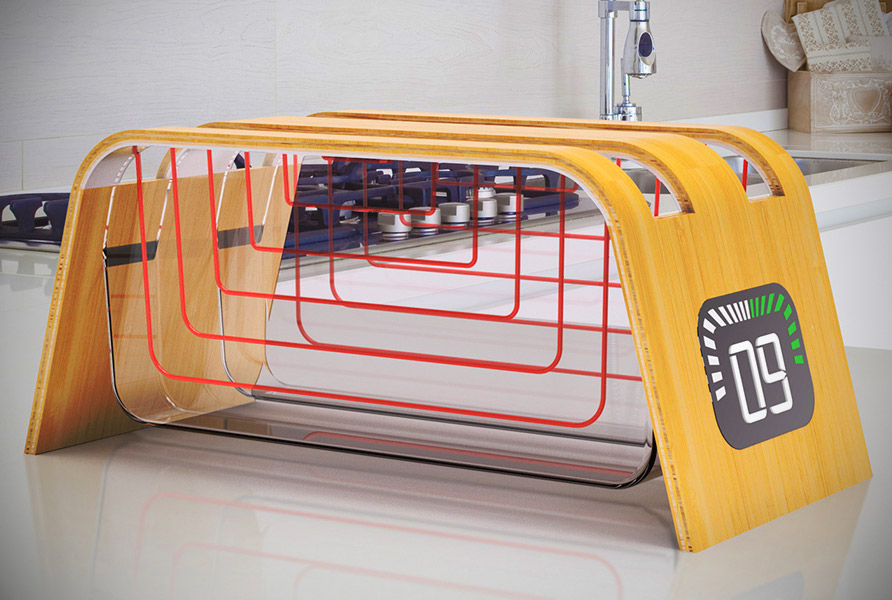 Transparent Bamboo Glass Toaster Ensures Your Toast Is