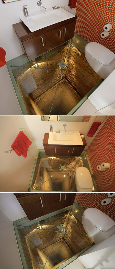 Transparent Bathroom Floor