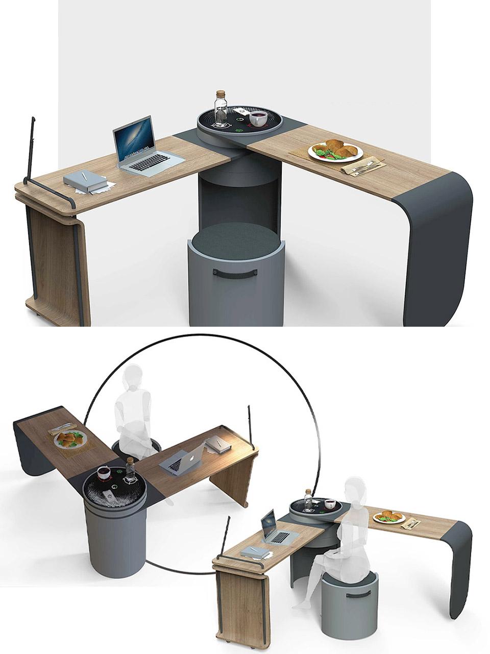 Trash-Powered Clock Desk