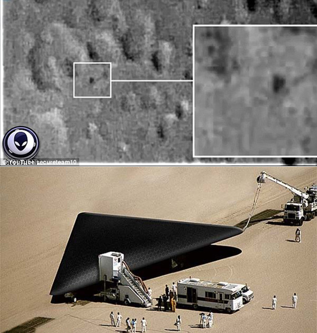 Triangle UFO Moon TR-3B