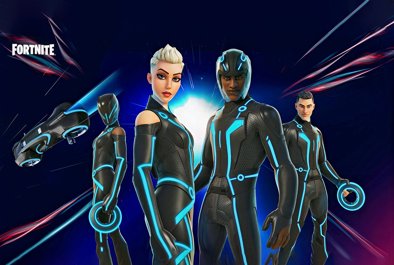 TRON Legacy Fortnite Skins Gameplay