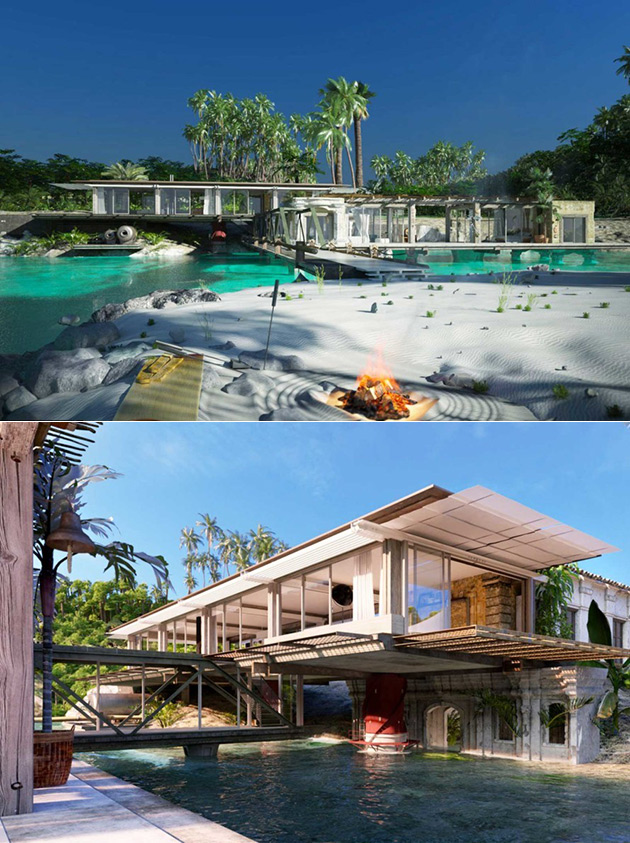 Industrial Tropical Home