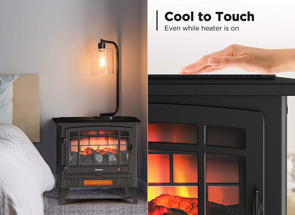 Turbro Suburbs TS25 Electric Fireplace Infrared Heater