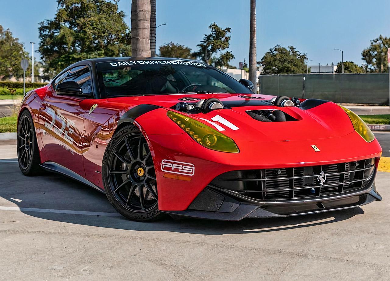 Twin-Turbocharged Ferrari f12 1500HP