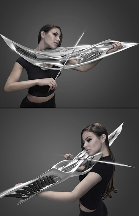 Two-String Piezoelectric Violin