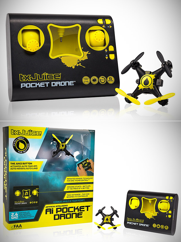 TX Juice Pocket Stunt Drone Has Artificial Intelligence for Take Offs and Landings, Get One for Under $11 - Today Only