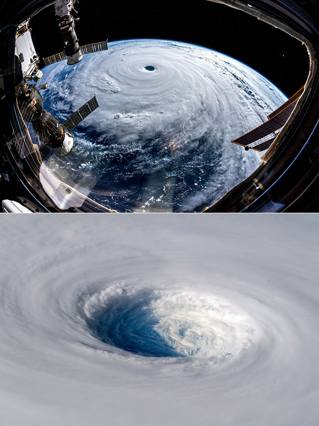 Typhoon Trami Space