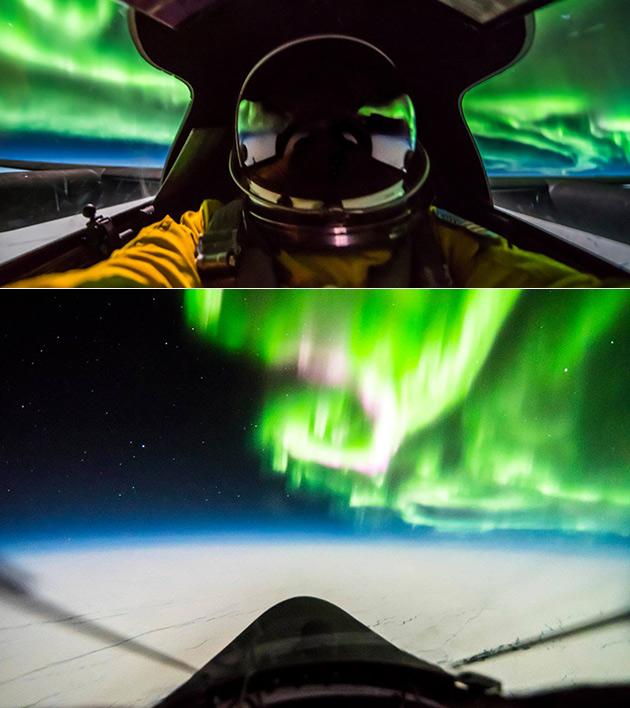 U-2 Spy Plane Northern Lights