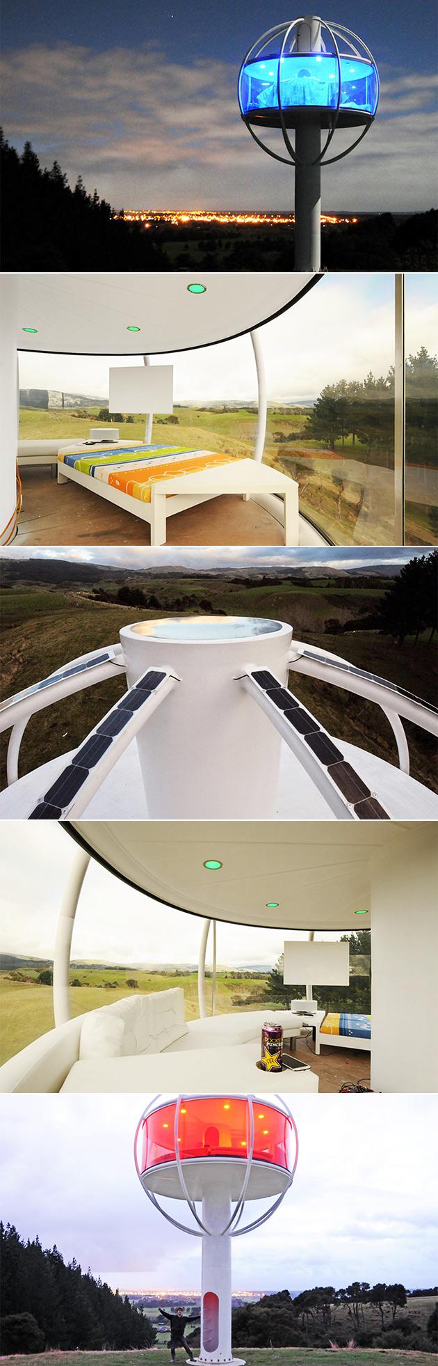 futuristische ufo haus gesteuert werden kann komplett mit. Black Bedroom Furniture Sets. Home Design Ideas