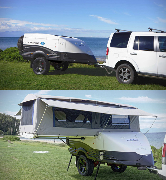 Ultimate NEXUS Looks Like a Normal Camper, But Unfold Everything? It Becomes a Mini Home