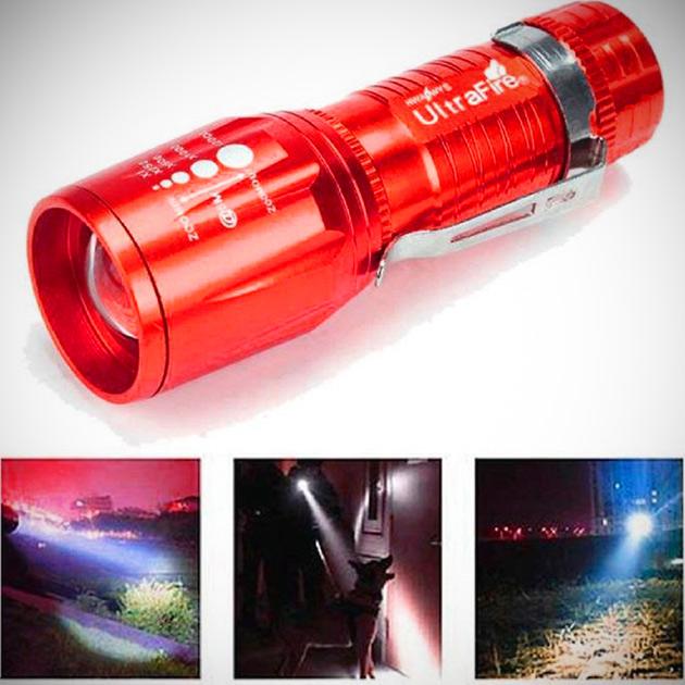 Red Flashlight Torch