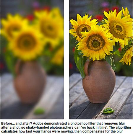 Photoshop CC: Camera shake reduction (image deblurring ...