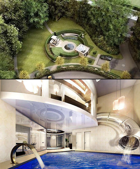 Like James Bond The Subterranean Mansion Was Built Almost Entirely Underground Boasting A Water Slide That Goes From Master Bedroom To Swimming