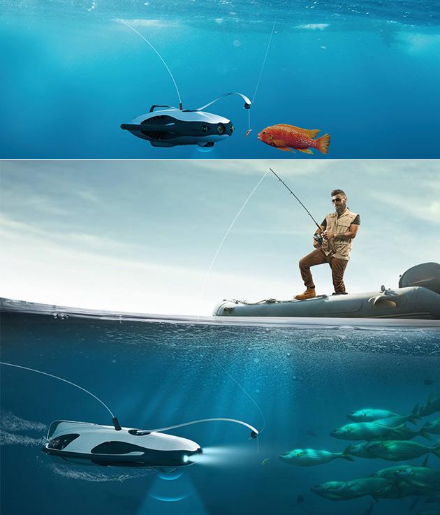 Subaquático PowerRay Drone Funciona até Mesmo em Condições de Gelo, é Perfeito Companheiro de Pesca