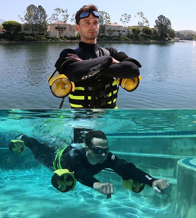 Underwater Iron Man