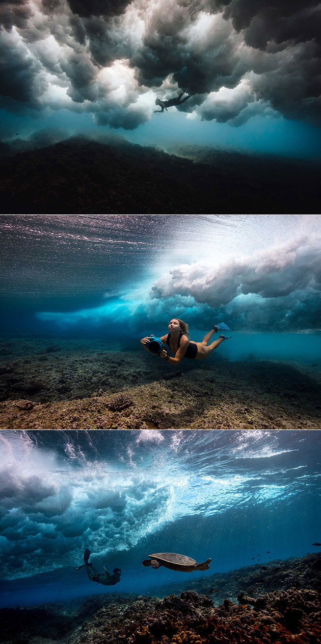 Underwater Wave Photo
